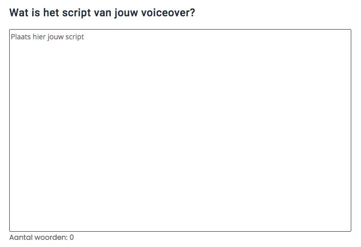 voiceover script